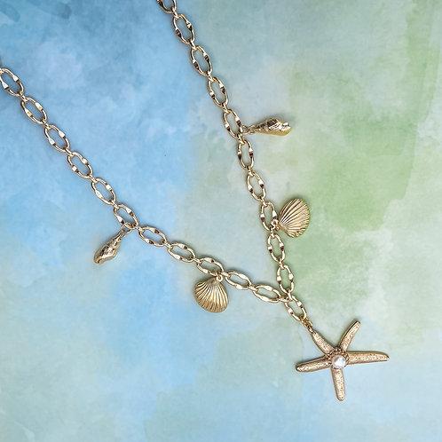 Starfish & Shell Statement Necklace