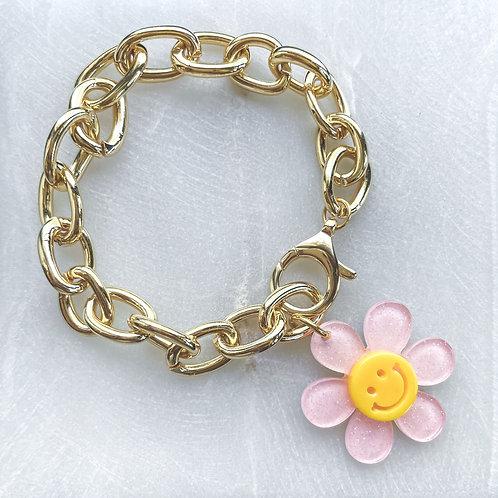 Smiley Daisy Chunky Bracelet