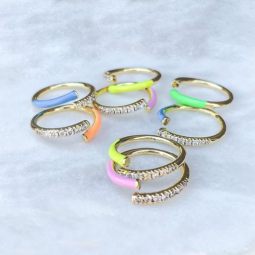 Summer Vibes Neon Enameled Ring