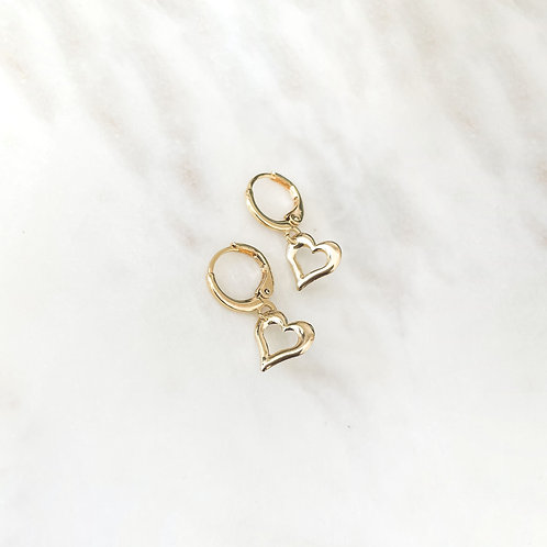 Heart Mini Hoops