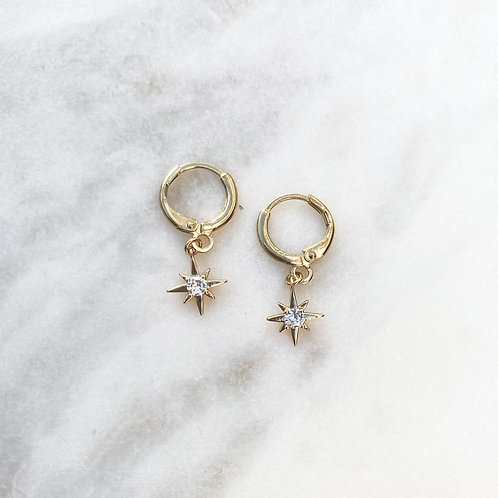 Mini Stars Hoop Earrings