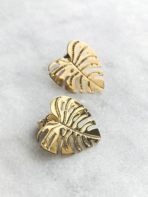 Tropical Leaves Stud Earrings