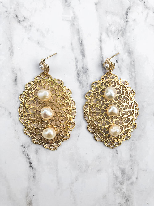 Pearls Statement Earrings
