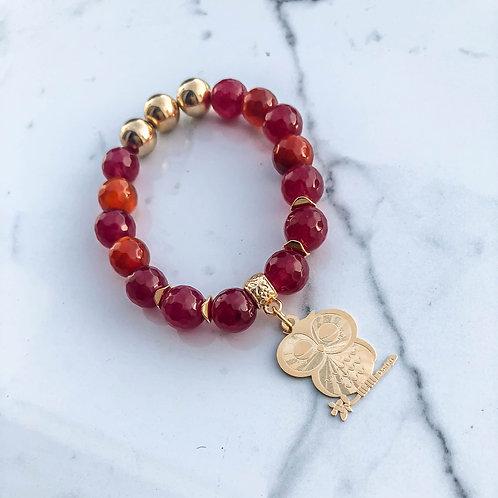 Agate Owl Bracelet