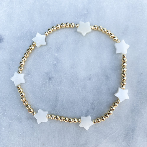Mother of Pearl Stars Bracelet