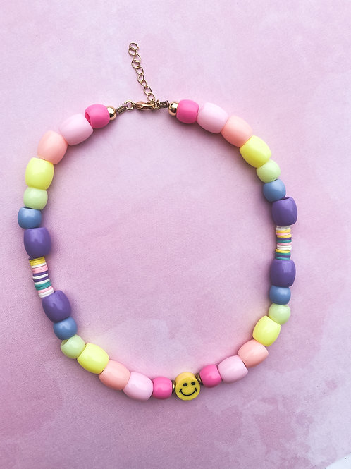 Happy Face Necklace For Little Girls