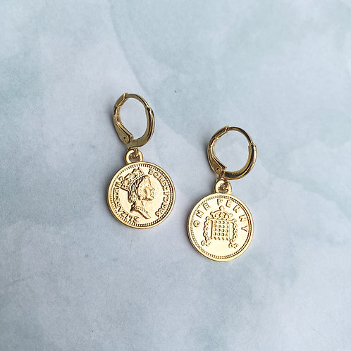 Coin Mini Hoops
