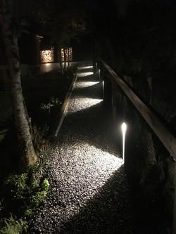 Eclairage de chemin avec bornes led