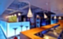 Suspension Artemide, décoration lux, bar, cuisine