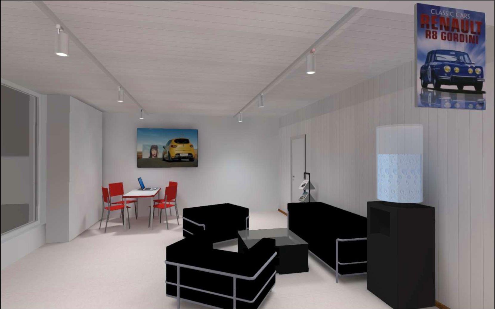Etude d'éclairage show-room Renaud