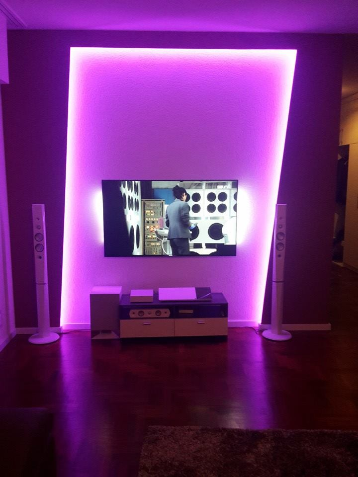 Eclairage led indirecte salon