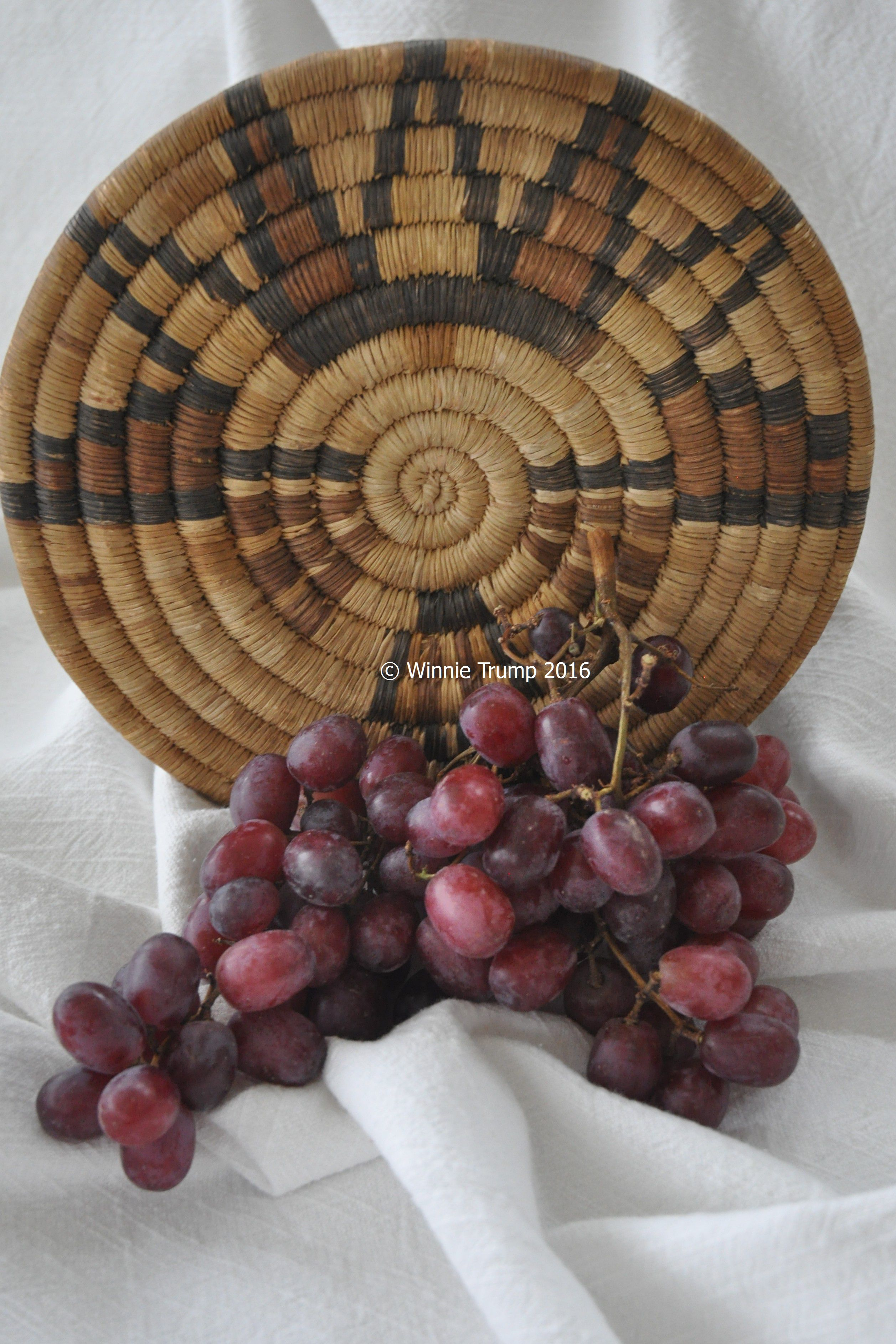 Hopi Tray with Grapes