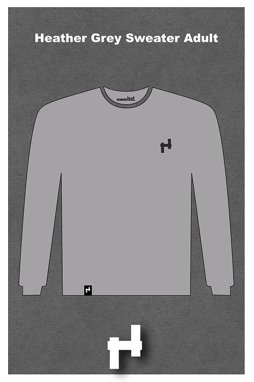 Heather Grey Sweater Adult