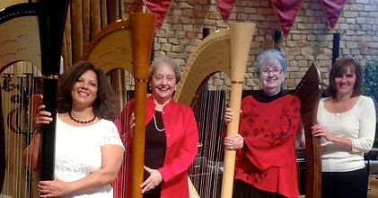 HarpEssence is Grace Johnson, Joan McCord, Susan Koskelin and Linda Mudd