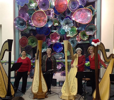 HarpEssence at Euless Public Library - Christmas program 2015