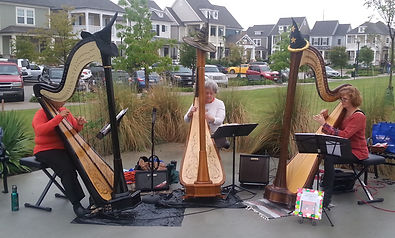 HarpEssence Halloween performance at Coppell Farmers Market, 2015