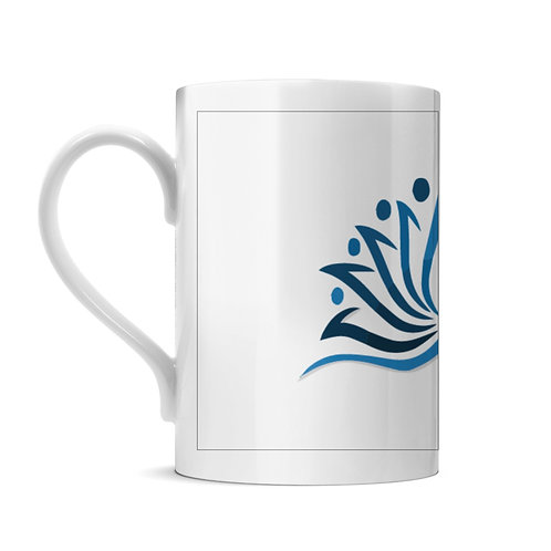 Blue Lotus Porceline Mug