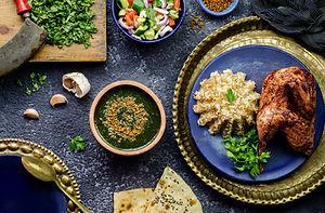 Arabic cuisine; Egyptian dish Molokhya o