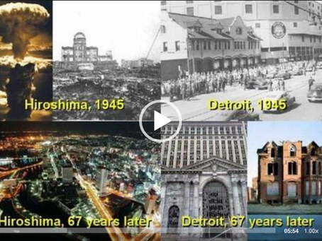 DETROIT CITY (NOW AND THEN) - DIVERSITY IS OUR GREATEST WEAKNESS. DIVERSITY MEANS WHITE GENOCIDE.