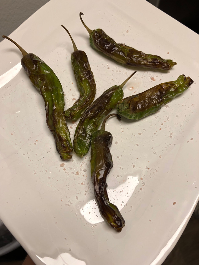 Air Fryer Charred Shishito Peppers