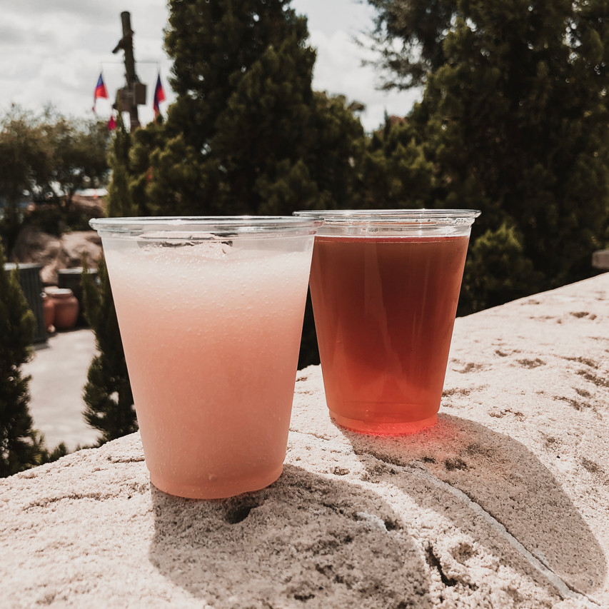 Frosé and Fat Tire from Beer Hut #4