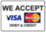 we accept credit card and debit card