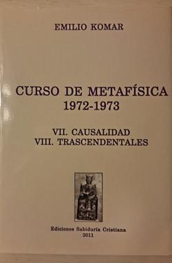 Curso de metafísica 7-8, 2011