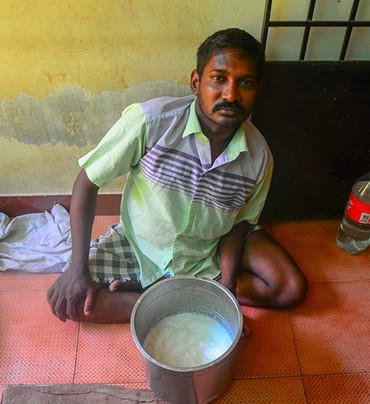 Sudhakar is a milkman and owns 4 cows. D