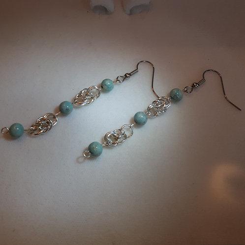 Sea Foam Earrings - Long