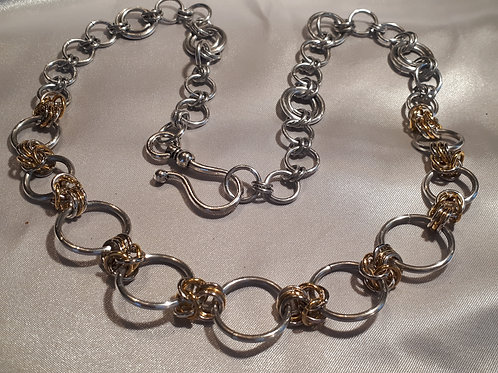 Simple Gold & Silver Necklace