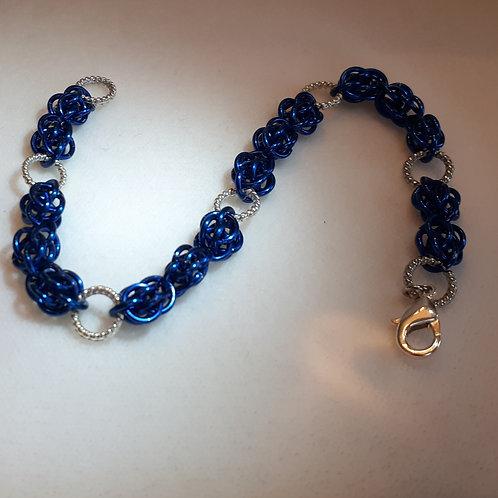 Sweet Pea in Blue Bracelet