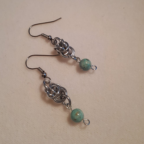 Sea Foam Earrings - Short