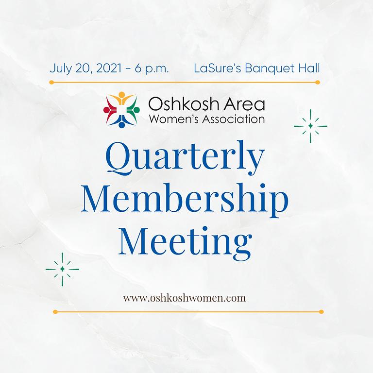 Quarterly Membership Meeting