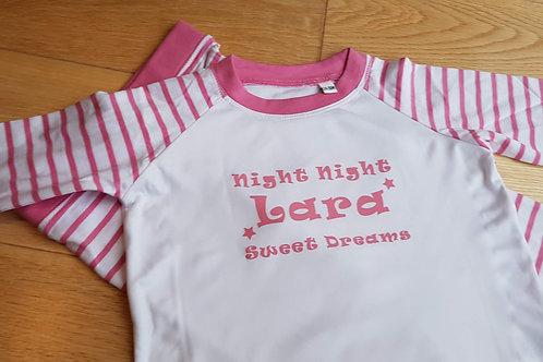 Stripy Pyjamas - Sweet Dreams - Star Design