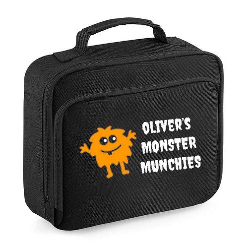 Halloween Lunch Bag - Black - Monster Munchies