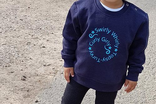Toddler Sweatshirt - Swirly Text Design