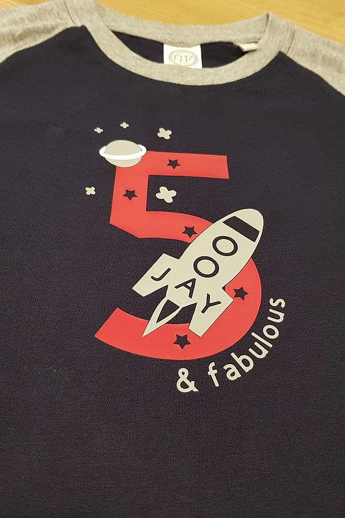 Copy of Longsleeve T-Shirt - 5 & fabulous space design