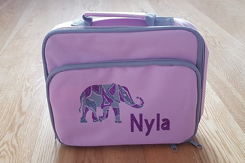 Lunch Bag -Pink Elephant