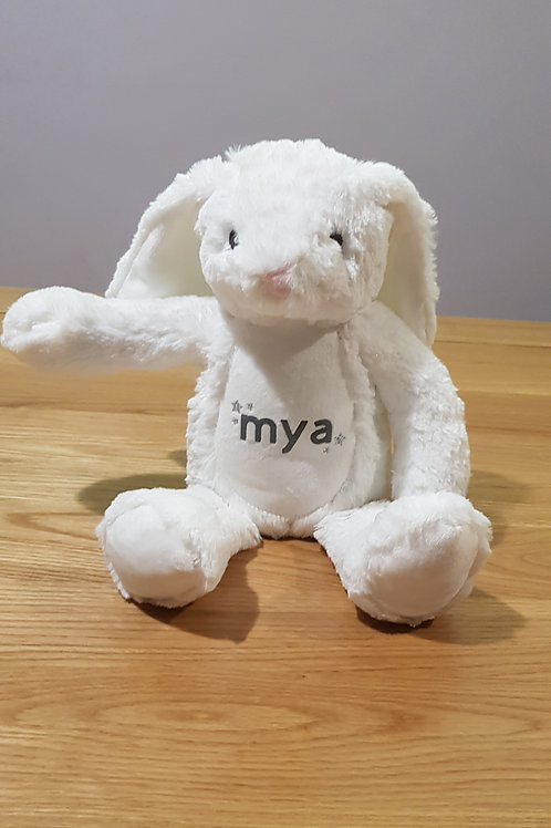 White Bunny Teddy - Personalised