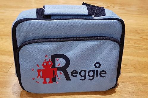 Lunch Bag - Light Blue Robot