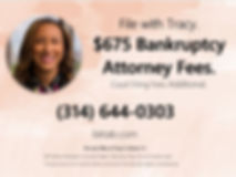 $675 St. Louis Bankruptcy Attorney Fees