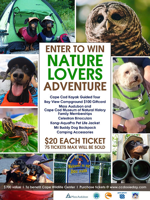 Nature Lovers Adventure - Grand Prize Raffle Ticket
