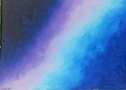 Aline - Céu - Pastel sobre Papel