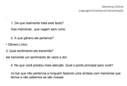 KAroline Silva - Bar Memória analise de