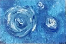 Aline -  Abstrato -  Acrílico sobre Papel