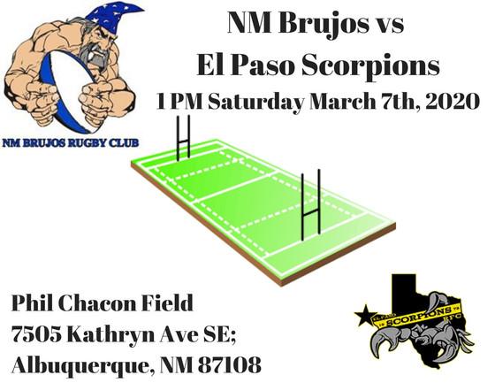 NM Brujos host El Paso Scorpions this weekend in Rio Grande Rugby Union spring season opener.