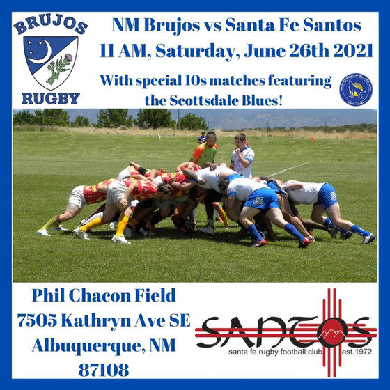 NM Brujos to host Santa Fe Santos, special 10s match against Scottsdale Blues this Saturday!