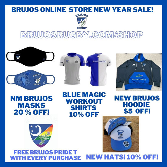 New Year, New Threads! Everything on Sale from the NM Brujos Online Store! Plus Free Pride Tees!