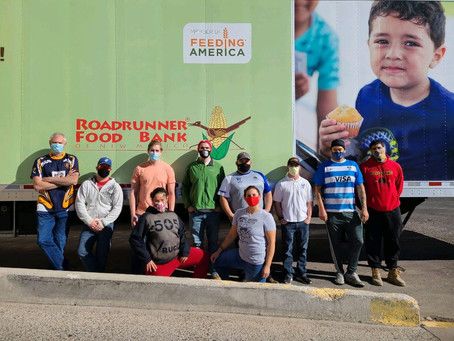 Members of Albuquerque's Rugby Community Come Together to Help Roadrunner Food Bank. Movember News.