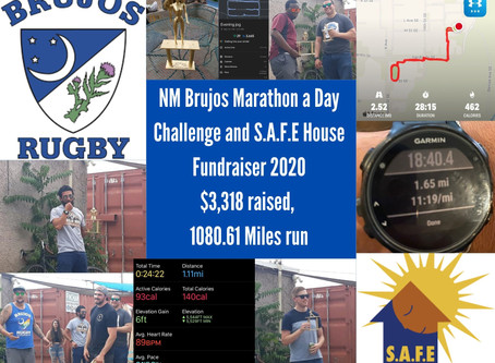 NM Brujos Marathon a day Challenge and Fundraiser is a huge success, raises over $3000 for S.A.F.E H